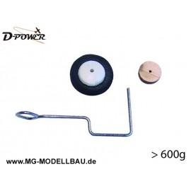 Heckfahrwerk - für Modelle bis 600g