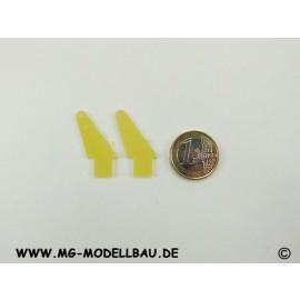 GFK Ruderhorn 23mm 4 St. + Doppelplatte