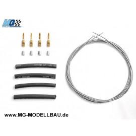 Seilzuganlenkung m. Stahlseil 1,0mm