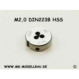 Schneideisen M2,0 DIN223B HSS