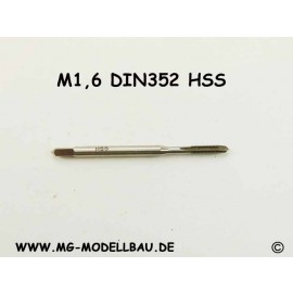Gewindebohrer M1,6 aus HSS