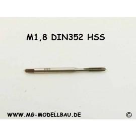 Gewindebohrer M1,8 aus HSS
