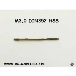 Gewindebohrer M3,0 aus HSS Din 371