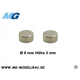 Magnet Ø6,0 x 3,0mm Neodym (2)