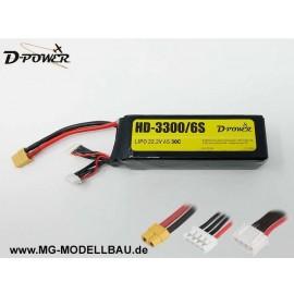 HD-3300 6S Lipo (22,2V) 30C-XT60 Stecker
