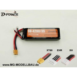D-Power SD-4200 3S Lipo (11,1) 45C