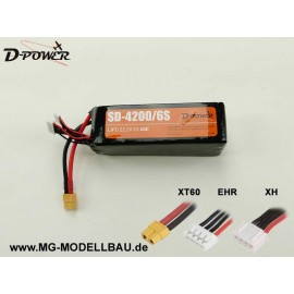 D-Power SD-4200 6S Lipo (22,2) 45C