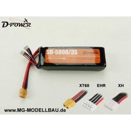 D-Power SD-5800 3S Lipo (11,1) 45C
