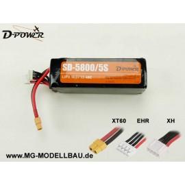 D-Power SD-5800 5S Lipo (18,5) 45C