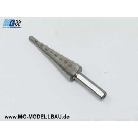 HSS Stufenbohrer 9 Stufen 4-12 x 1,0mm