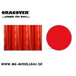 Bügefolie Transparent fluor rot 0,5mtr.