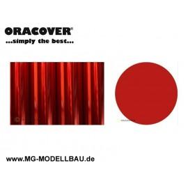 Bügefolie Transparent rot 0,5mtr.