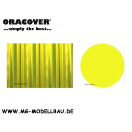 Bügelfolie Transparent fluor gelb 0,5mtr
