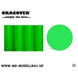 Bügelfolie fluoreszierend grün 0,5 mtr.