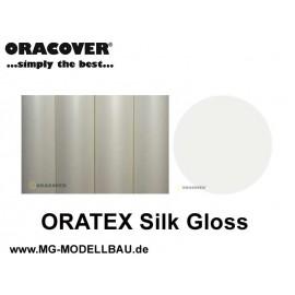ORATEX Silk Gloss Gewebe naturweiss 1mtr