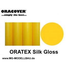 ORATEX Silk Gloss Gewebe cub gelb 0,5m