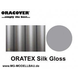 ORATEX Silk Gloss Gewebe silber 1m