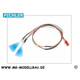 LED Kabel blau (2 LEDS)