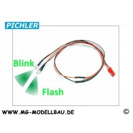 LED Kabel grün blinkend (2 LEDS)