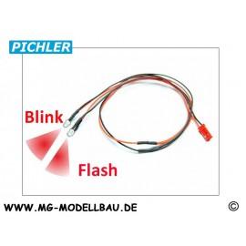 LED Kabel rot blinkend (2 LEDS)