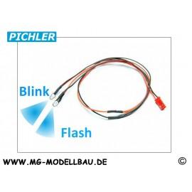 LED Kabel blau blinkend(2 LEDS)