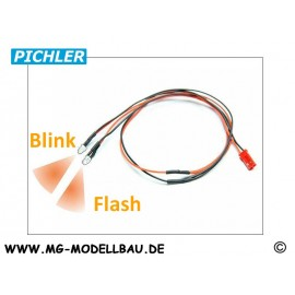 LED Kabel orange blinkend (2 LEDS)