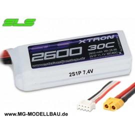 SLS XTRON 2600mAh 2S1P 7,4V 30C/60C
