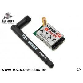 Fatshark 5.8 GHz Raceband vor Brille Dom